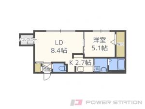 札幌市中央区南8条西25丁目11賃貸マンション間取図面