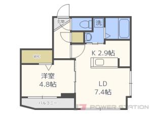 札幌市中央区南8条西25丁目1賃貸マンション間取図面