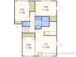 札幌市中央区南14条西17丁目01賃貸アパート間取図面