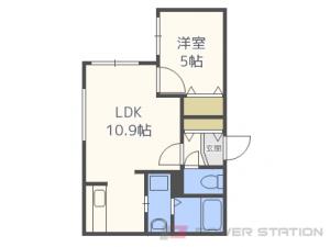 札幌市中央区南6条西23丁目01賃貸マンション間取図面