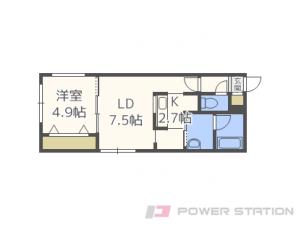 札幌市中央区南16条西8丁目1賃貸マンション間取図面