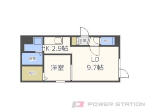 札幌市中央区南7条西17丁目01賃貸マンション間取図面