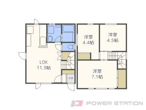 札幌市中央区南5条西18丁目01一戸建貸家間取図面