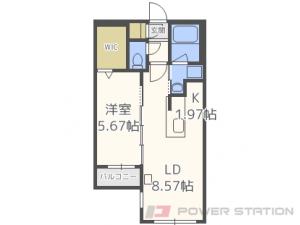札幌市中央区北1条西18丁目11賃貸マンション間取図面