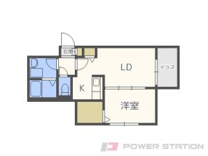 札幌市中央区南12条西9丁目01賃貸マンション間取図面