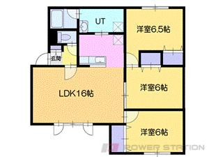 長都3LDKアパート図面