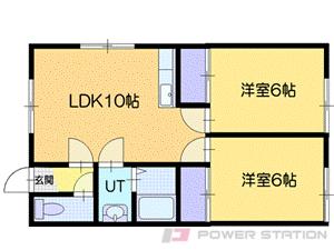 千歳2DKアパート図面