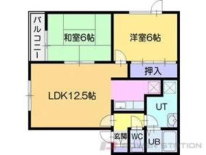 江別市対雁0賃貸アパート間取図面