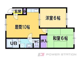 江別市元江別1賃貸アパート間取図面