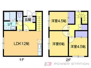 江別市牧場町1賃貸アパート間取図面