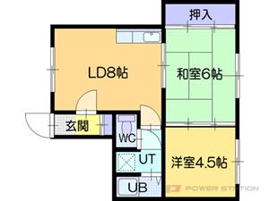 江別市見晴台1賃貸アパート間取図面