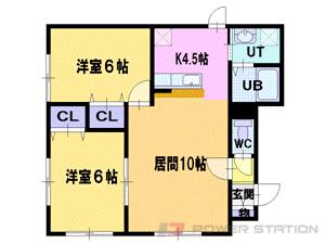 江別市牧場町0賃貸アパート間取図面