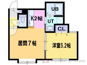 江別1DKアパート図面