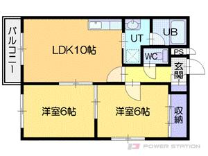 江別市4条6丁目0賃貸マンション間取図面