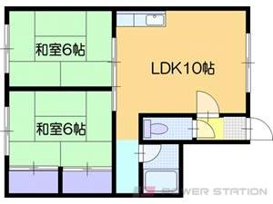 江別市東光町0賃貸アパート間取図面