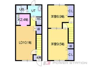 江別市萌えぎ野西1賃貸アパート間取図面