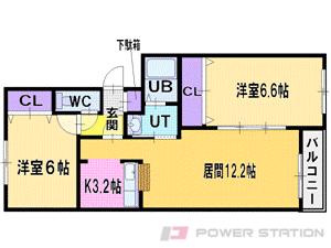 江別市萌えぎ野中央0賃貸マンション間取図面