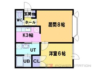江別市新栄台0賃貸アパート間取図面