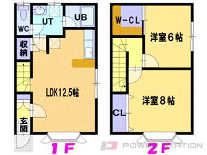 江別市新栄台0テラスハウス間取図面