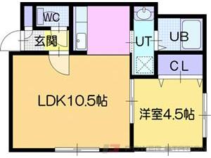 江別市中央町0賃貸アパート間取図面