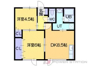高砂2DKアパート図面