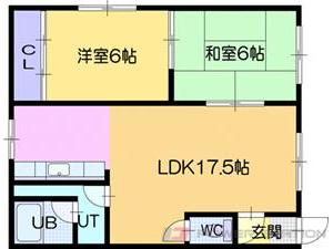 江別市弥生町1賃貸アパート間取図面