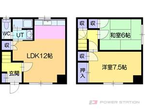 江別市弥生町1テラスハウス間取図面