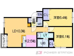 江別市上江別西町0賃貸アパート間取図面