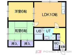 江別市上江別西町1賃貸アパート間取図面