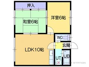 江別市上江別東町0賃貸アパート間取図面