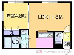 ラ・シュエット江別:5号室タイプ(1LDK)