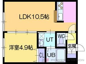 ラ・シュエット江別:8号室タイプ(1LDK)