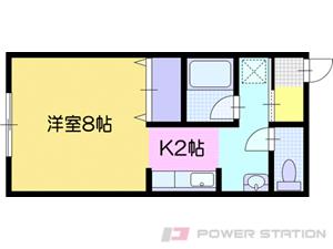 江別市錦町0賃貸アパート間取図面