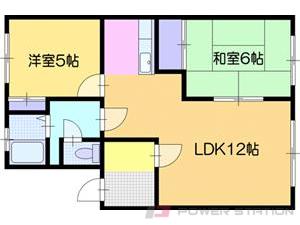 江別市幸町1賃貸アパート間取図面