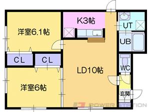ルミエールサガン:1号室タイプ(2LDK)