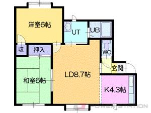 江別市高砂町1賃貸アパート間取図面