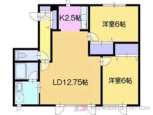 江別市上江別南町0賃貸アパート間取図面