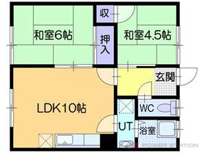 江別市野幌屯田町1賃貸アパート間取図面