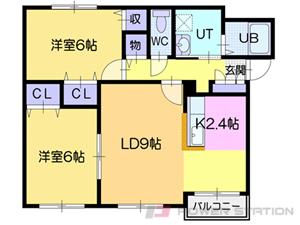 江別市野幌寿町0賃貸アパート間取図面