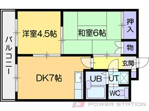 江別市幸町0賃貸マンション間取図面