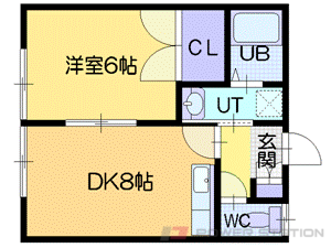 高砂1DKアパート図面