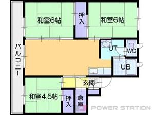江別市上江別0賃貸マンション間取図面