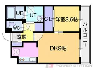 江別市野幌町0賃貸マンション間取図面