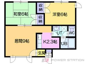 江別市野幌町1賃貸アパート間取図面