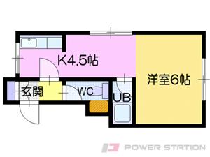 江別市野幌末広町0賃貸アパート間取図面