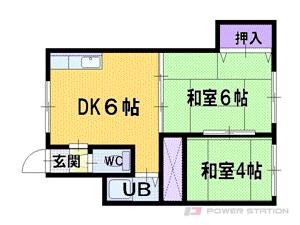 江別市野幌松並町0賃貸アパート間取図面