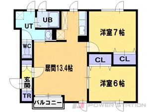 江別市東野幌本町0賃貸アパート間取図面