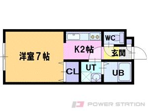 江別市野幌若葉町0賃貸マンション間取図面