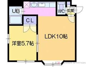 江別市野幌若葉町1賃貸マンション間取図面