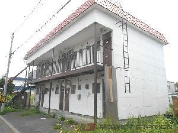 野幌1Kアパート外観